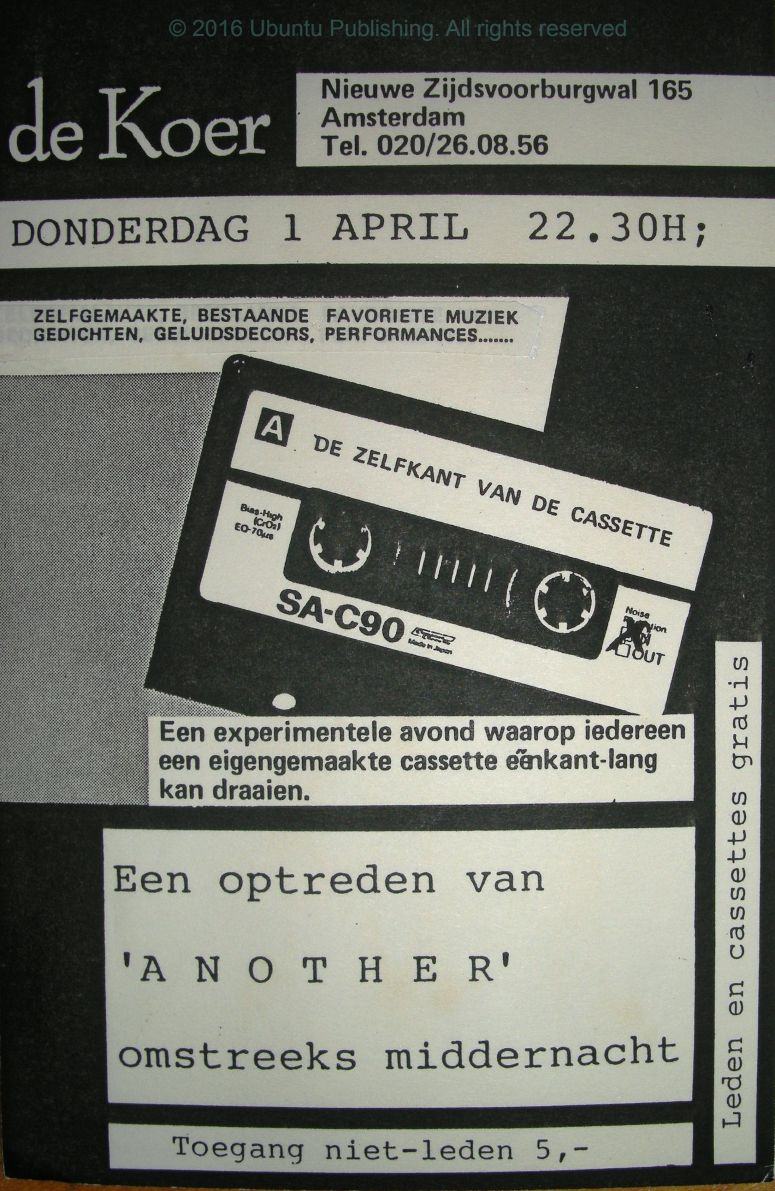 de Koer -de zelfkant van de cassette 1 April 1982 flyer watermarked