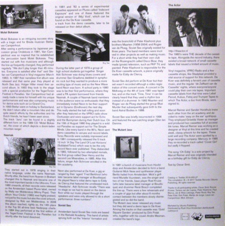 de Koer 1981 LP insert achter