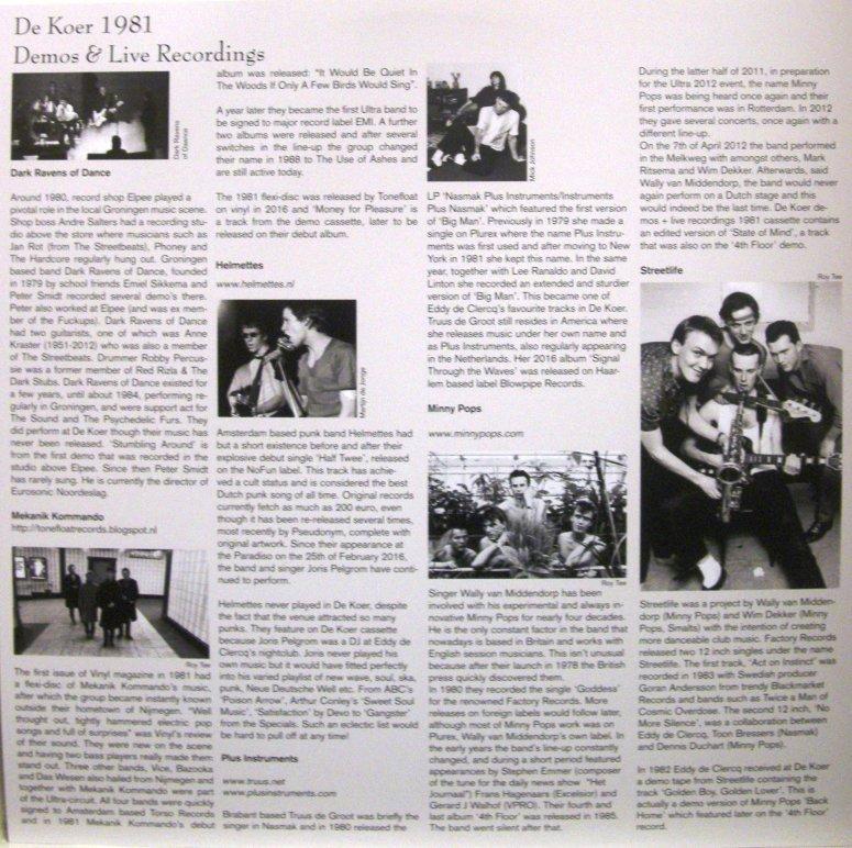 de Koer 1981 LP insert voor